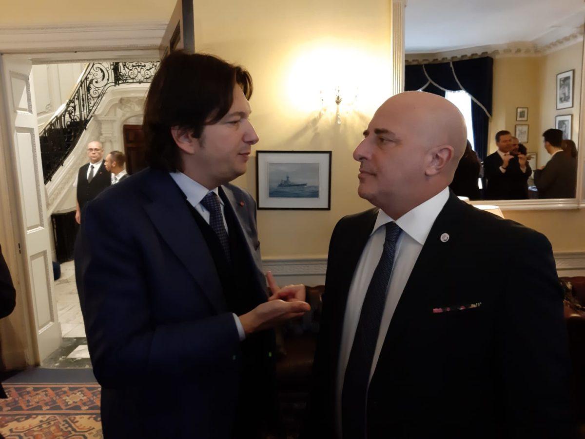 Berrino con alessandro Belluzzzo presidente Camera di commercioitaliana in UK