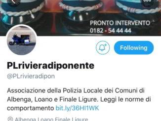 Canale Twitter Polizia Locale Riviera di Ponente