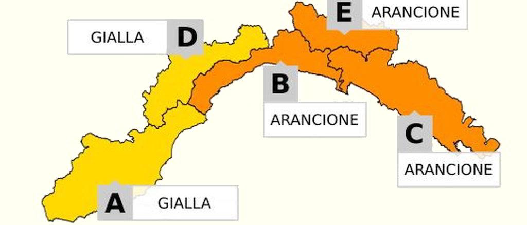 Cartina Allerta Liguria