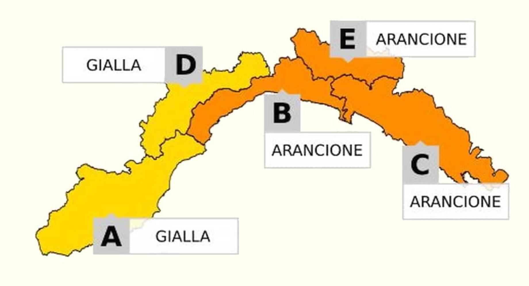 Cartina Politica Liguria Ponente.Liguria Nuovo Allerta Per Piogge E Maltempo