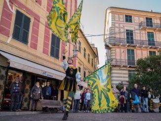 Celle Ligure sbandieratori a Borgo in festa