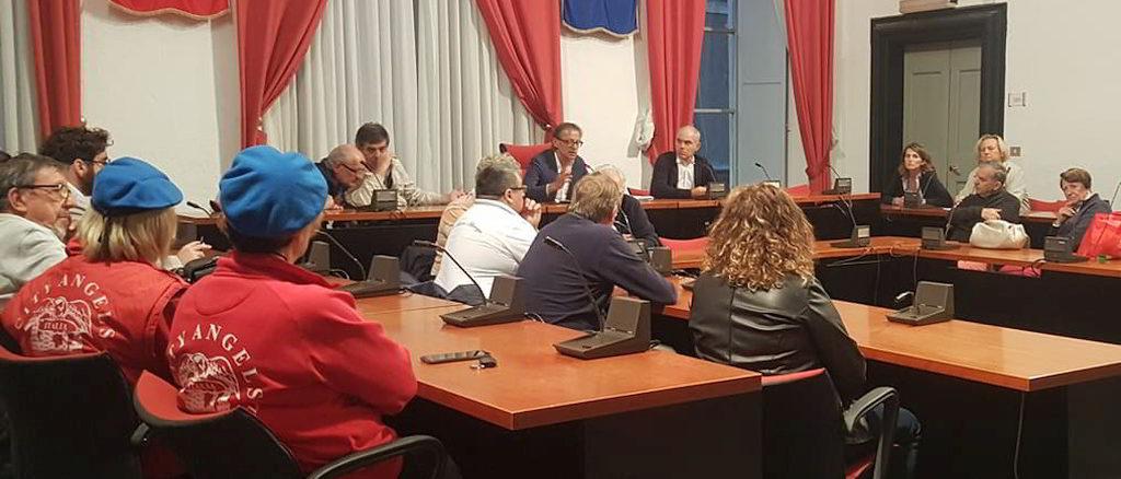City Angels di Albenga durante un oncontro in Comune