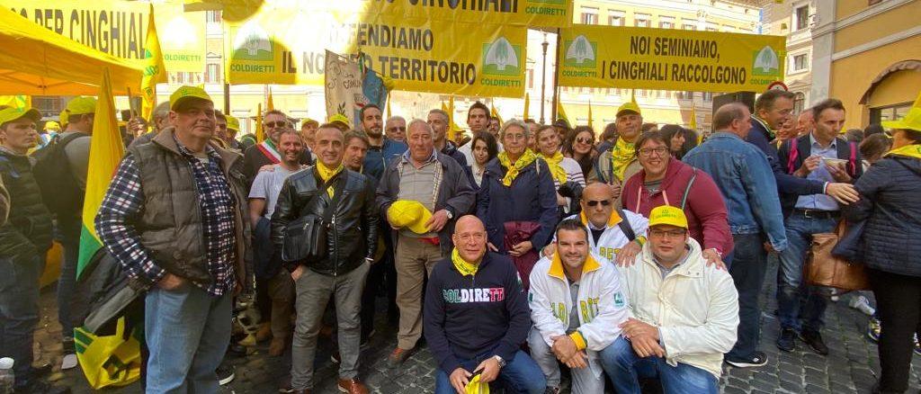 Coldiretti a Roma campagna anticinghiali