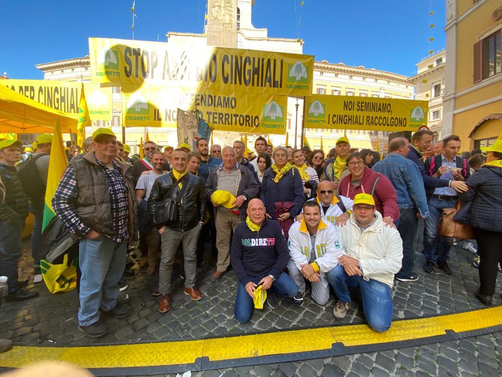 Coldiretti a Roma campagna anticinghiali 01