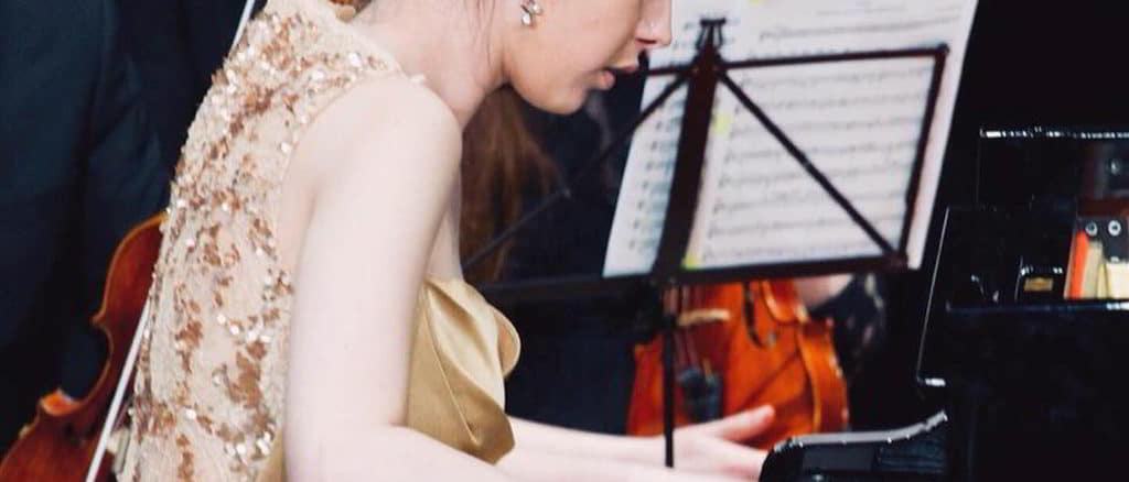 Giulia Toniolo al pianoforte