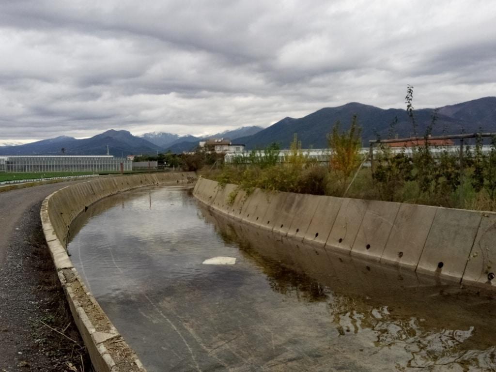 Lavori di pulizia alveo del Rio Antognano ad Albenga