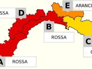 Liguria Allerta Rossa a b d arancione e gialla c