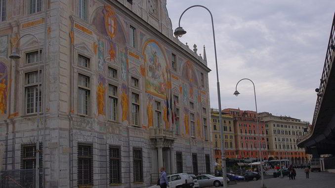 Entrata Palazzo San Giorgio a Genova