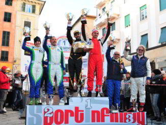 la premiazione della prima edizione rally Giro dei Monti Savonesi Storico