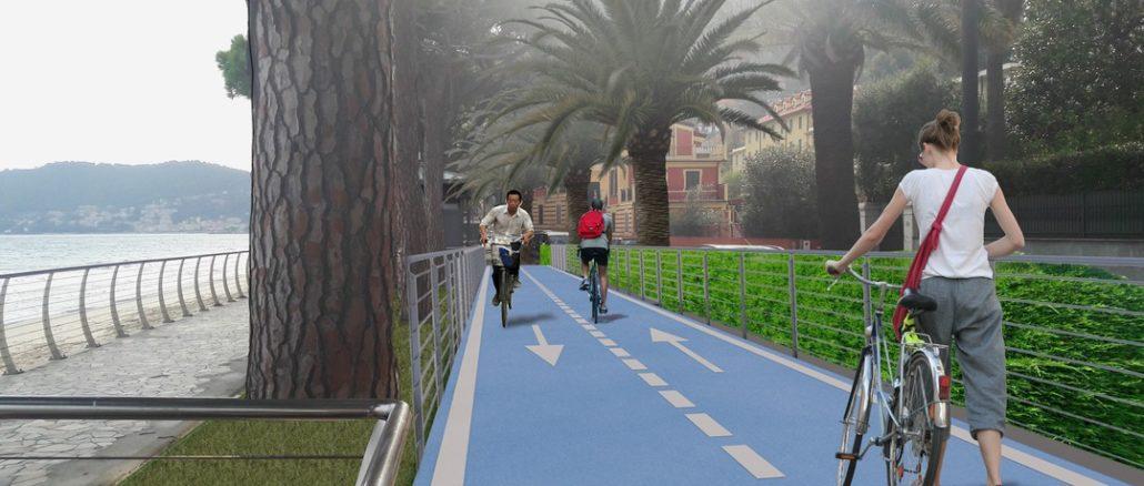 Progetto pista ciclabile di Alassio