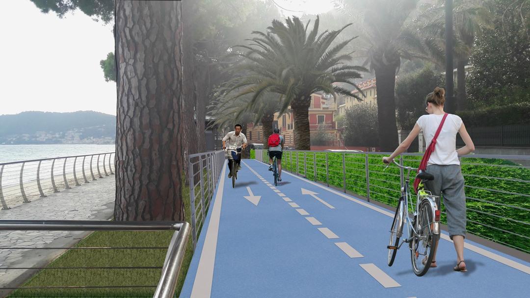 Prospetto pista ciclabile Alassio 02