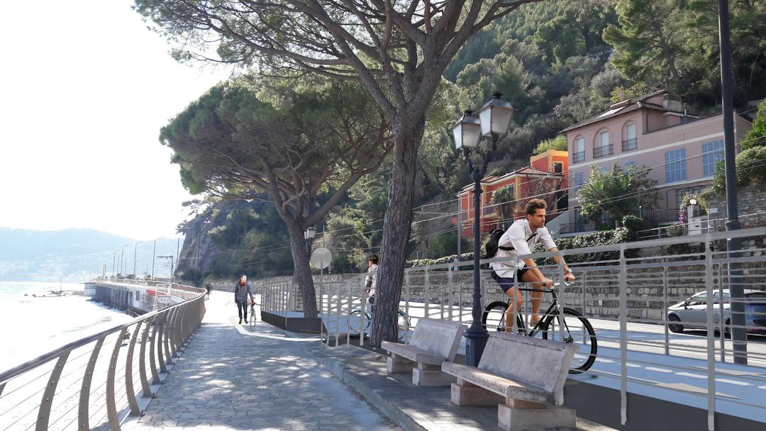 Prospetto pista ciclabile Alassio 03