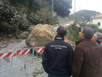 Sopralluogo Giovanni Totti Regione Liguria alla frana di Varazze