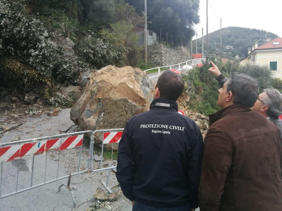 Sopralluogo Regione Liguria alla frana di Varazze 01