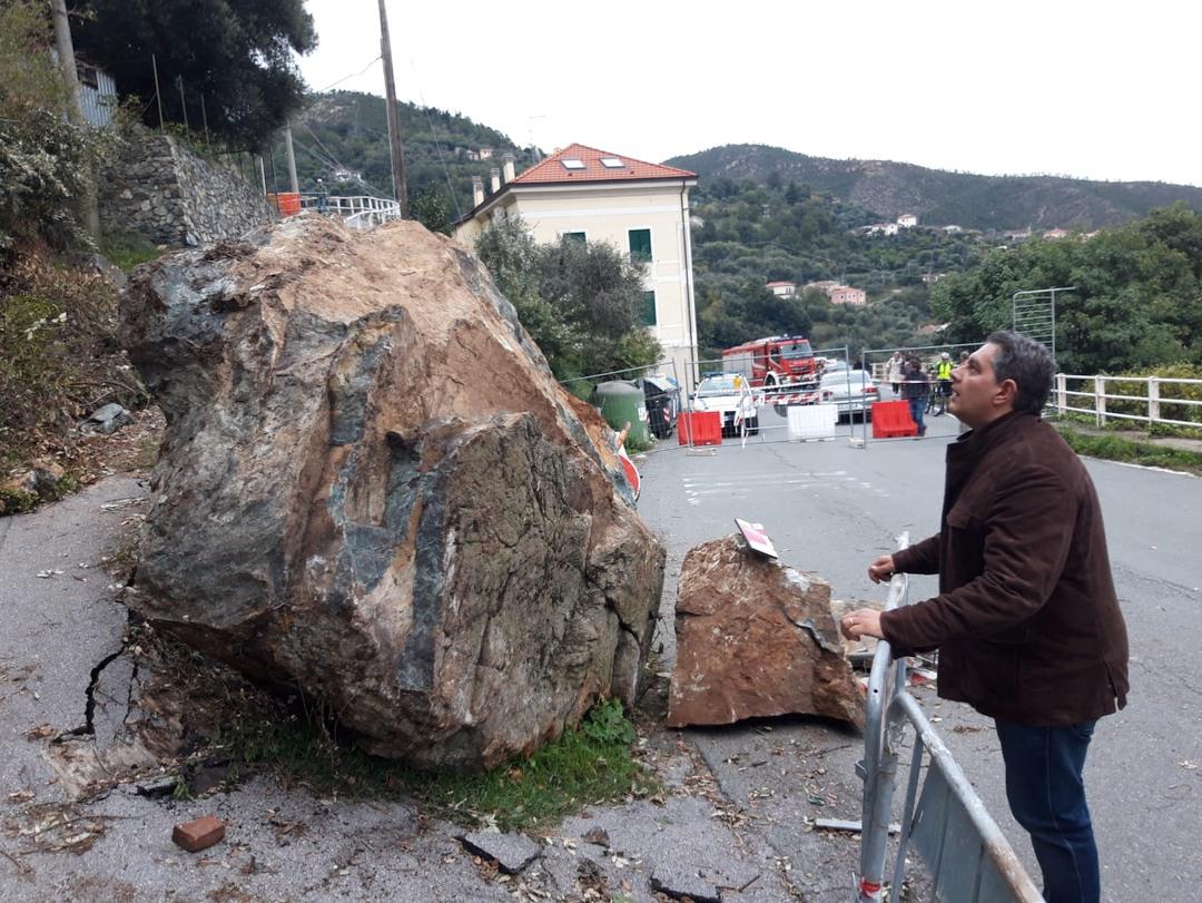 Sopralluogo Regione Liguria alla frana di Varazze 02