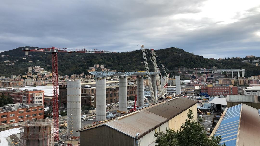 Terzo impalcato nuovo Ponte Genova 01