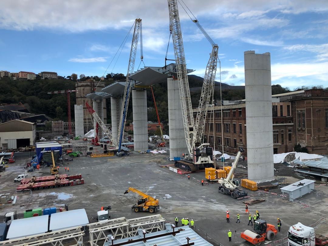 Terzo impalcato nuovo Ponte Genova 02