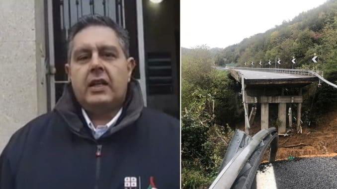 Toti e viadotto oggi crollato A6 Savona Torino