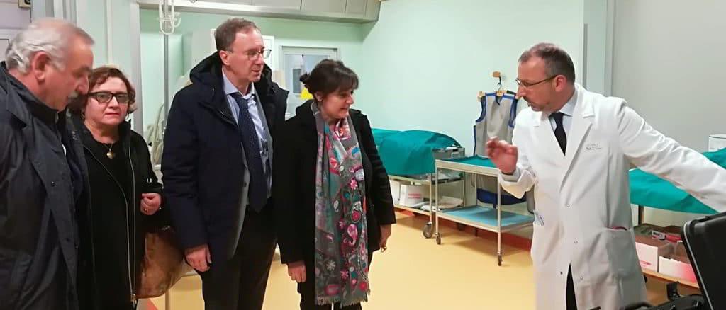 Visita assessore Viale reparto pneumologia Ospedale Santa Corona di Pietra Ligure