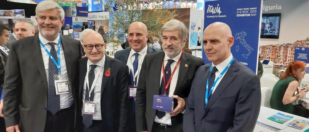 WTM Londra - da sin Palmucci, Giampellegrini, Berrino, Bucci, Trombetta