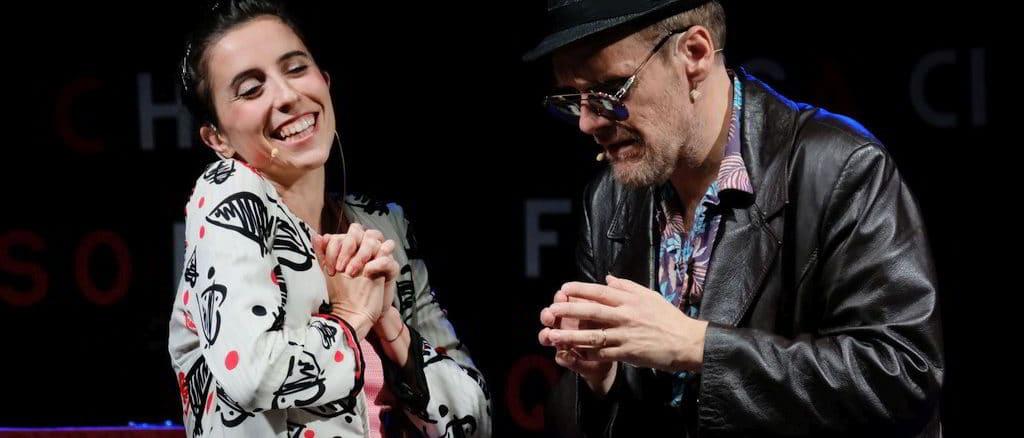 Marta Zito e Jurij Ferrinisul palco