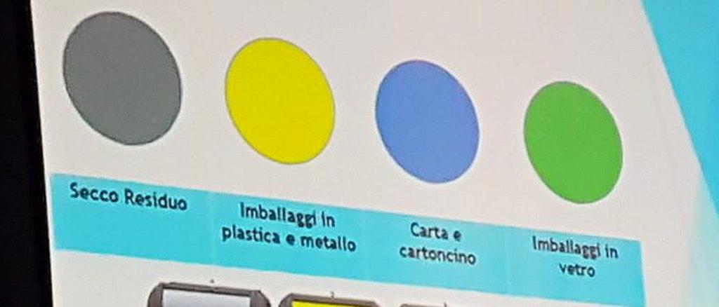 differenziata ad Albenga colore delle campane