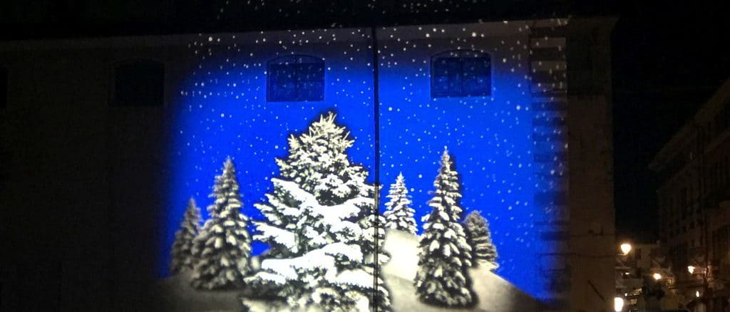 proiezioni natalizie ad Albenga