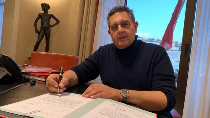 Presidente Regione Liguria Toti firma richiesta stato di emergenza 25 nov 2019