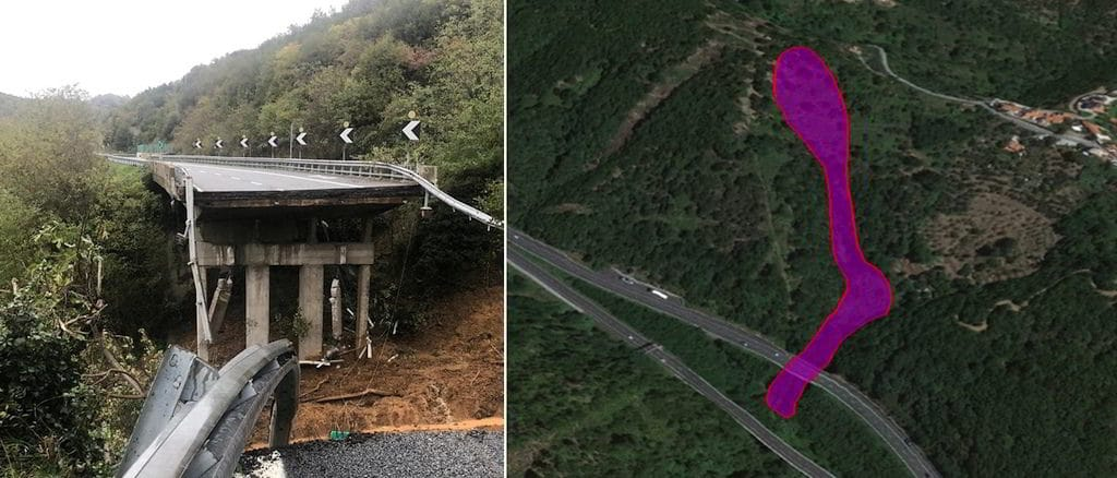 ricostruzione Consiglio Nazionale dei Geologi Corpo di frana che avrebbe determinato il crollo viadotto A6