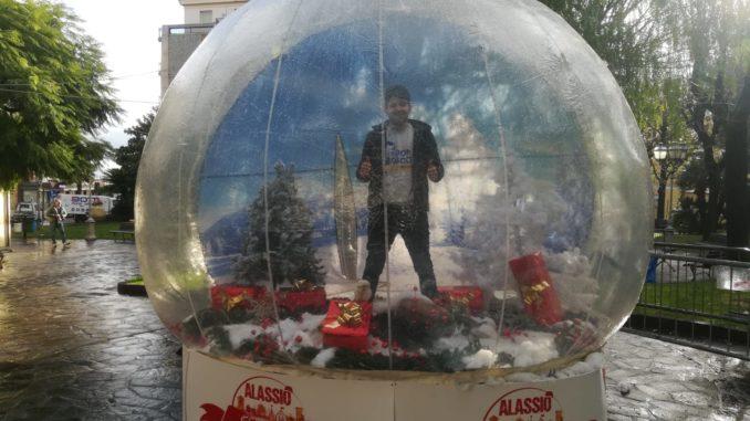La bolla di Alassio Christmas Town
