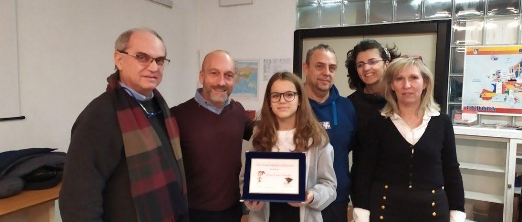 Celle Ligure - Annaluna Pittella premiata con Borsa di studio Olmo