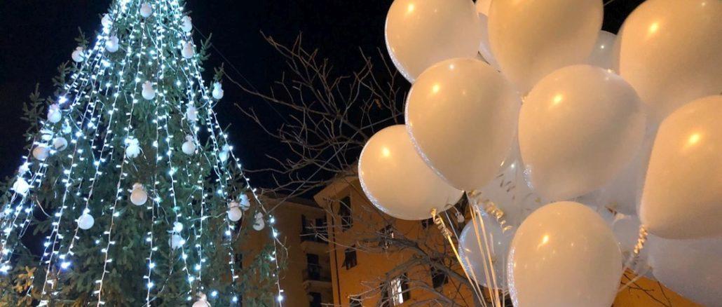 Accensione Albero Natale a Certosa ricordo 43 vittime Ponte Morandi