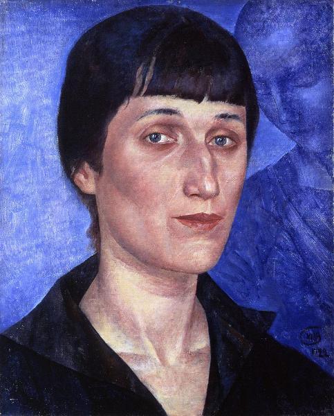 Kuzma Petrov Vodkin. Portrait of Anna Akhmatova. 1922