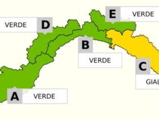 Allerta Gialla in Liguria in zina C