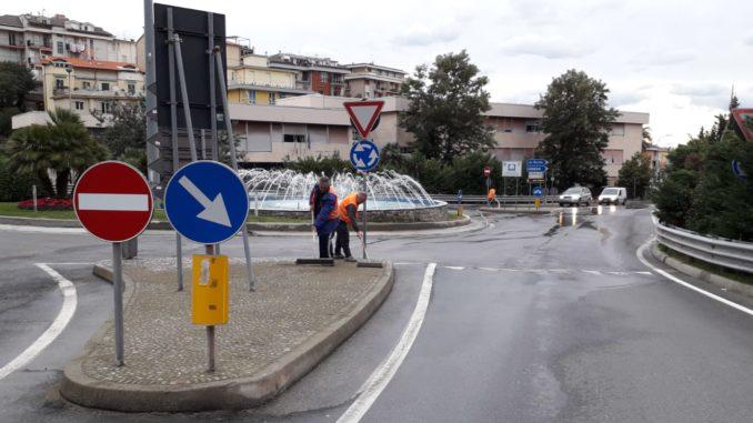 La rotonda di via Gastaldi ad Alassio