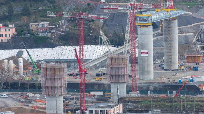 Nuovo Ponte Genova varo primo impalcato a Levante