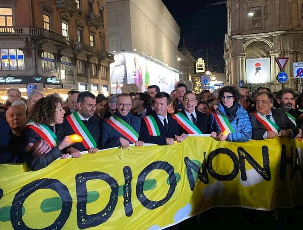 Odio non ha Futuro - Sindaco Savona Ilaria Caprioglio a Milano