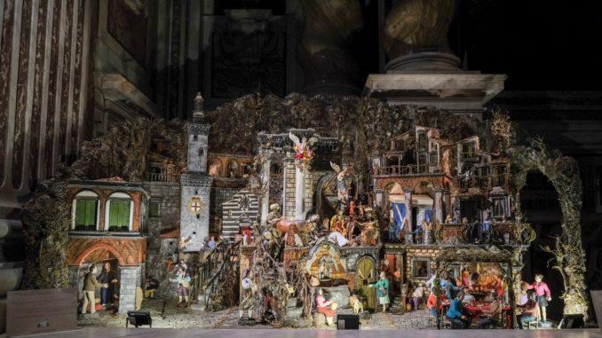 Presepe a Genova nella basilica della Santissima Annunziata del Vastato
