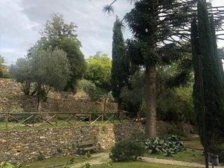 Scorcio giardini di Villa Fiske ad Alassio