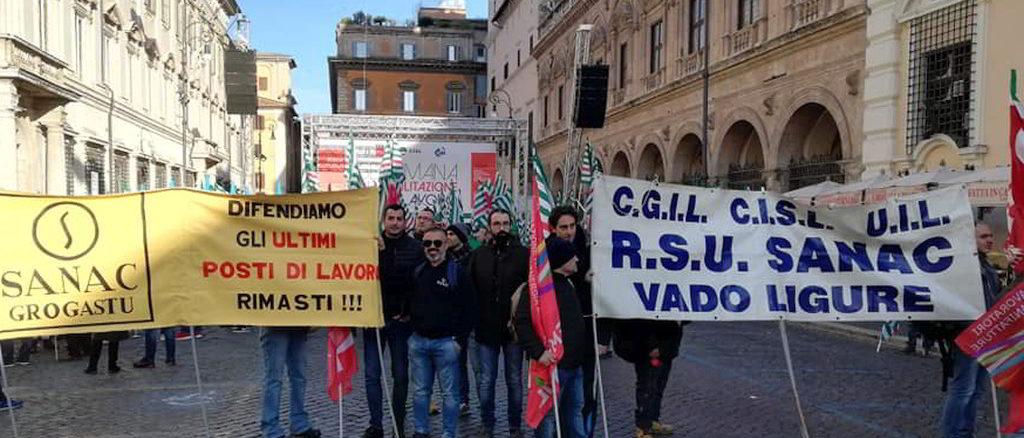 Sindacati Sanac Vado Ligure a Roma