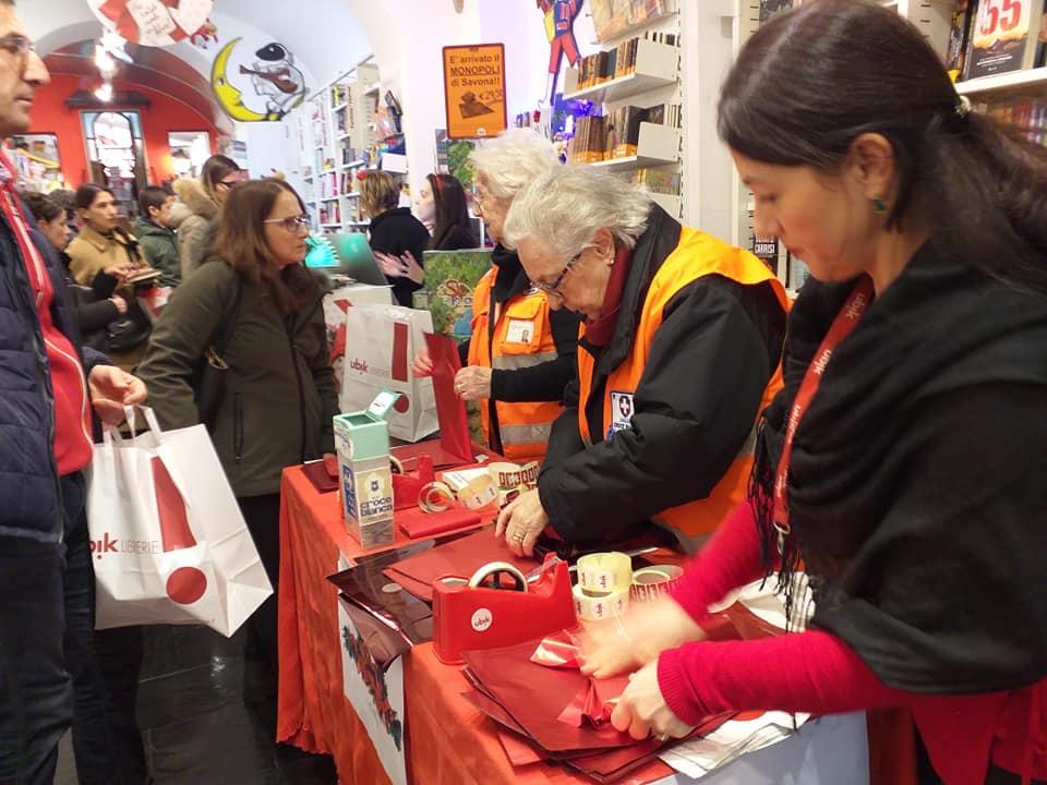 Volontari Croce Bianca alla Ubik di Savona