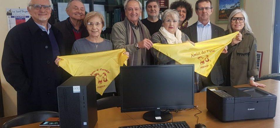computer donato dai Fieui di caruggi a CSM Albenga