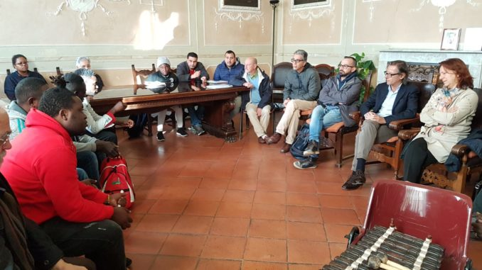 Incontro Migrantes in Comune ad Albenga