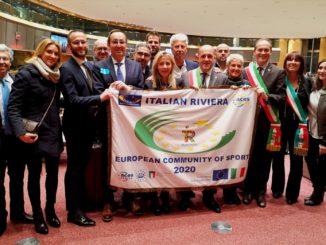 la consegna della Bandiera a Bruxelles