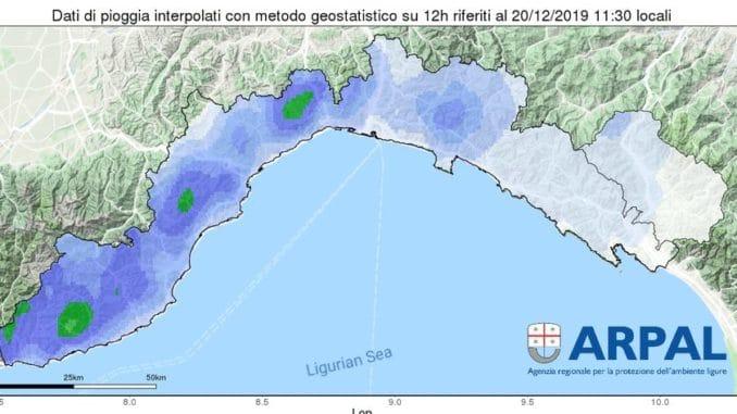 Pioggia in Liguria
