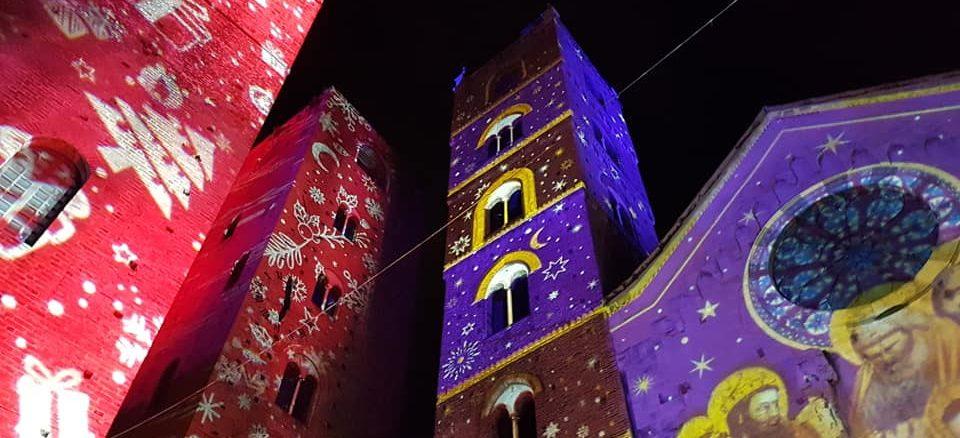 Le proiezioni luminose ad Albenga