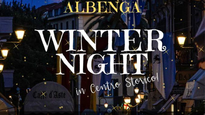 winter night Albenga