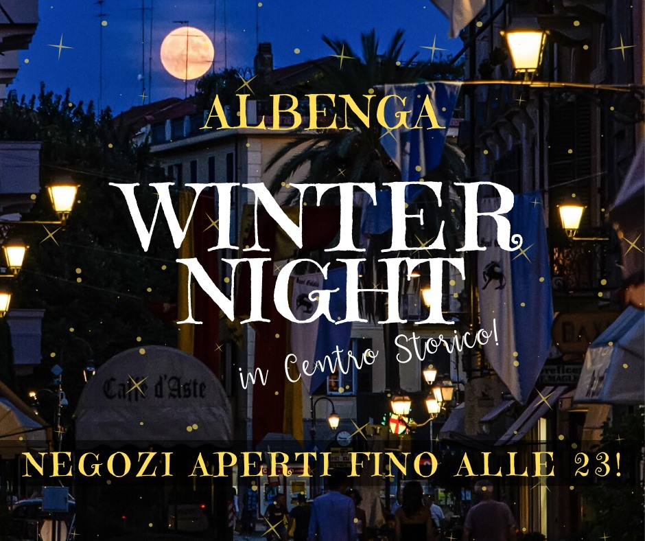winter night Albenga