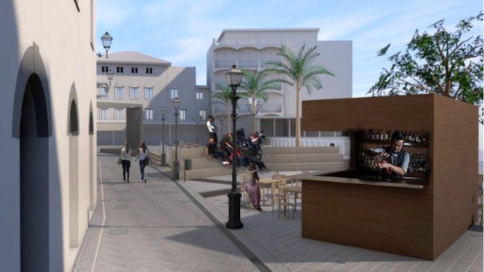 Alassio rendering Piazza Airaldi Durante