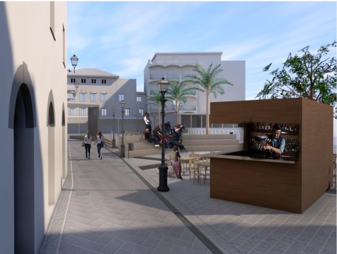 Alassio rendering Piazza Airaldi Durante 02